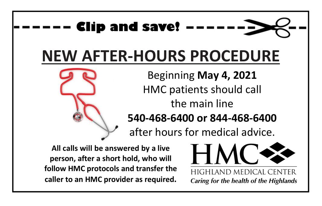 HMC after hours Advertisement